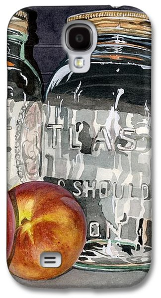 Water Jars Paintings Galaxy S4 Cases - Canning Time Galaxy S4 Case by Barbara Jewell