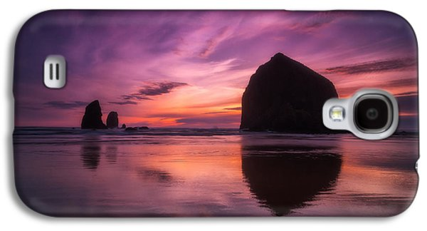Sunset Greeting Cards Galaxy S4 Cases - Cannon Beach Dreams Galaxy S4 Case by Darren  White