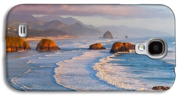 Sunset Greeting Cards Galaxy S4 Cases - Cannon Beach Sunset Galaxy S4 Case by Darren  White