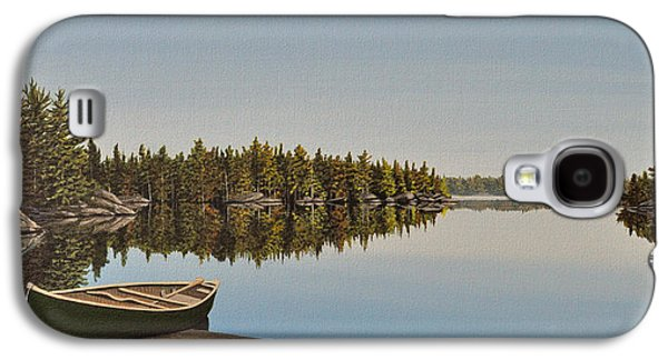 Canoe Paintings Galaxy S4 Cases - Canoe The Massassauga Galaxy S4 Case by Kenneth M  Kirsch