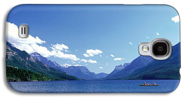 Canoeing Galaxy S4 Cases - Canoeing Waterton Lake Waterton Glacier Galaxy S4 Case by Panoramic Images