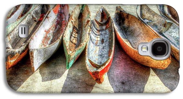 Canoes Galaxy S4 Case by Debra and Dave Vanderlaan