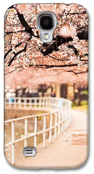 Cherry Blossoms Galaxy S4 Cases - Canopy of Cherry Blossoms Over a Walking Trail Galaxy S4 Case by Susan  Schmitz