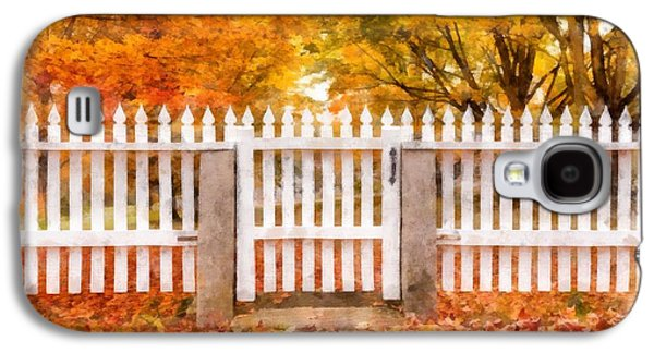 New England Village Galaxy S4 Cases - Canterbury Shaker Village Picket Fence  Galaxy S4 Case by Edward Fielding