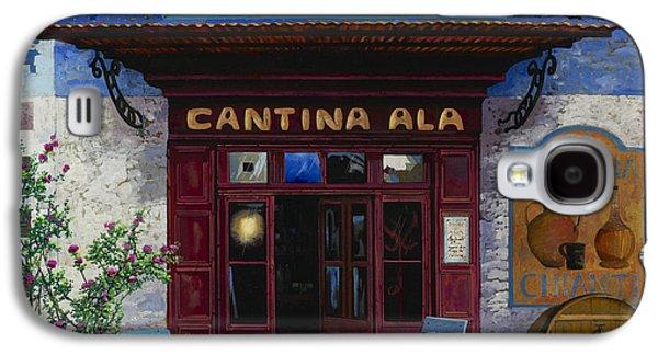 Wine Scene Galaxy S4 Cases - cantina Ala Galaxy S4 Case by Guido Borelli