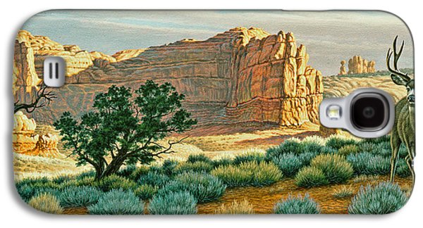 National Park Paintings Galaxy S4 Cases - Canyon Country Buck Galaxy S4 Case by Paul Krapf