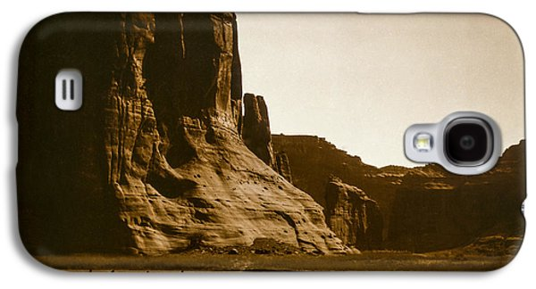 Horseback Photographs Galaxy S4 Cases - Canyon de Chelly circa 1904 Galaxy S4 Case by Aged Pixel