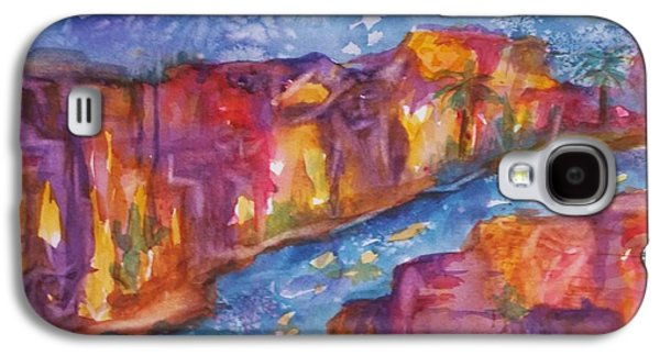 Abstracts Galaxy S4 Cases - Canyon of Old Souls Galaxy S4 Case by Ellen Levinson