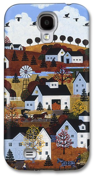 Horse And Buggy Paintings Galaxy S4 Cases - Cape Cod Autumn Galaxy S4 Case by Jane Wooster Scott