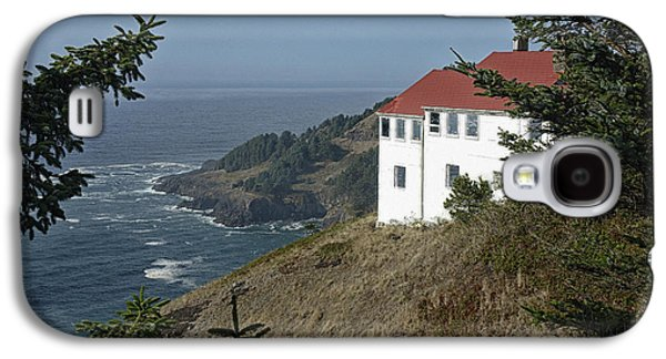 Agate Beach Oregon Galaxy S4 Cases - Cape Foulweather Lookout Galaxy S4 Case by Betty Depee