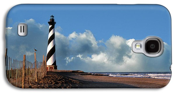 Landmarks Photographs Galaxy S4 Cases - Cape Hatteras Light Galaxy S4 Case by Skip Willits