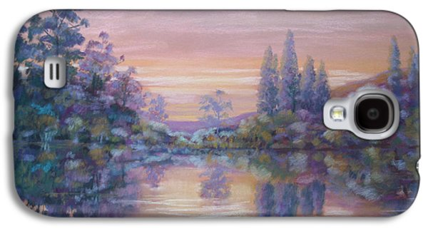Waterscape Pastels Galaxy S4 Cases - CApesthorne Lake evening Galaxy S4 Case by Heather Harman