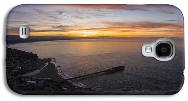 Capitola Wharf Sunrise Galaxy S4 Case by David Levy