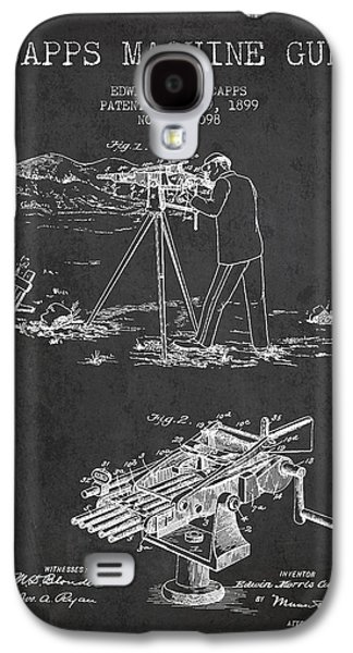 Machine Galaxy S4 Cases - Capps Machine Gun Patent Drawing from 1899 - Dark Galaxy S4 Case by Aged Pixel