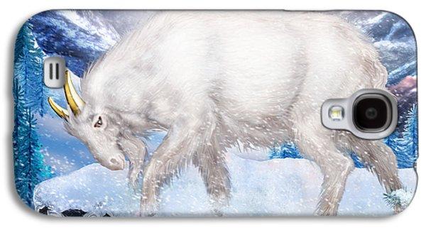 Goat Digital Art Galaxy S4 Cases - Capricorn Galaxy S4 Case by Ciro Marchetti