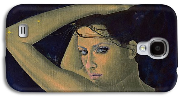 Constellations Paintings Galaxy S4 Cases - Capricorn from Zodiac series Galaxy S4 Case by Dorina  Costras