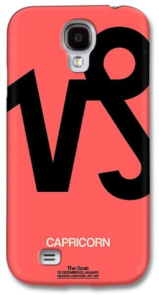 Virgo Galaxy S4 Cases - Capricorn Zodiac Sign Black Galaxy S4 Case by Naxart Studio