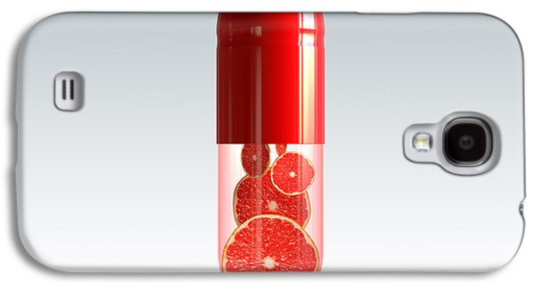 Healthy Galaxy S4 Cases - Capsule with citrus fruit Galaxy S4 Case by Johan Swanepoel