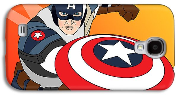 Animation Galaxy S4 Cases - Captain America Galaxy S4 Case by Mark Ashkenazi