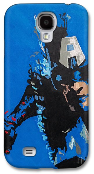 Pride Paintings Galaxy S4 Cases - Captain America - Out of the Blue Galaxy S4 Case by Kelly Hartman