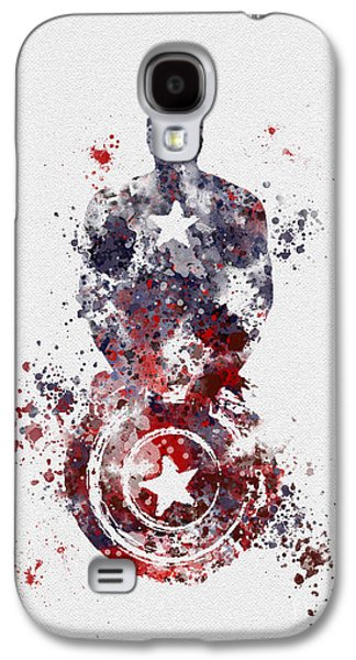 Captain Galaxy S4 Cases - Captain America Galaxy S4 Case by Rebecca Jenkins