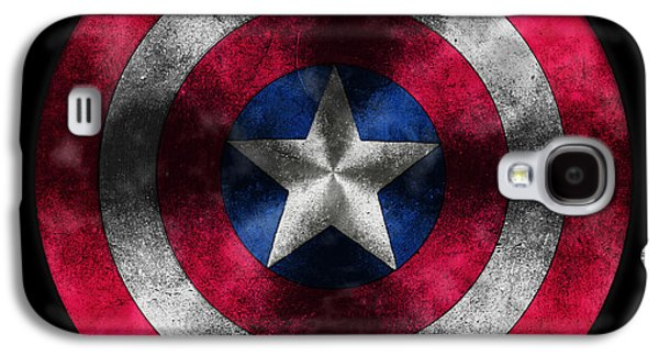 Shield Digital Galaxy S4 Cases - Captain America Shield Galaxy S4 Case by Georgeta Blanaru