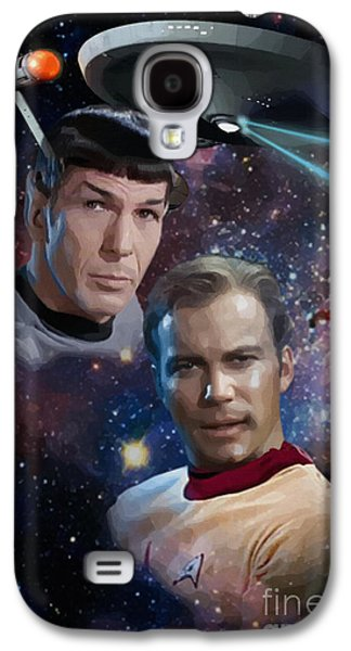 Enterprise Galaxy S4 Cases - Captain and First Officer Galaxy S4 Case by Joseph Juvenal