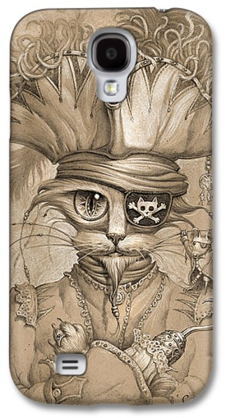 Recently Sold -  - Drawing Galaxy S4 Cases - Captain Claw Galaxy S4 Case by Jeff Haynie