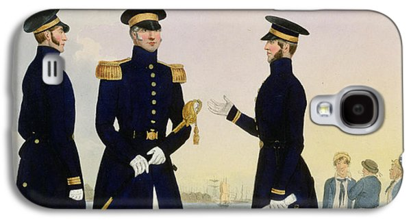 Uniform Galaxy S4 Cases - Captain Flag Officer And Commander Galaxy S4 Case by Eschauzier and Mansion