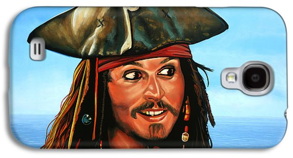 Keith Richards Galaxy S4 Cases - Captain Jack Sparrow Galaxy S4 Case by Paul  Meijering