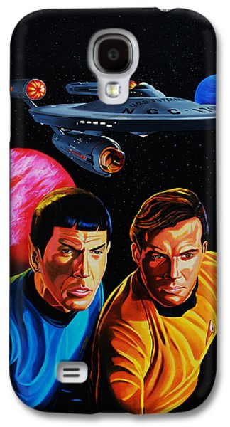 Recently Sold -  - Enterprise Galaxy S4 Cases - Captain Kirk and Mr. Spock Galaxy S4 Case by Robert Steen