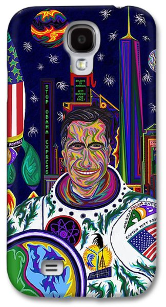 Barrack Obama Galaxy S4 Cases - Captain Mitt Romney - American Dream Warrior Galaxy S4 Case by Robert  SORENSEN