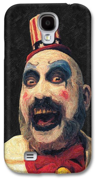 Haunted House Paintings Galaxy S4 Cases - Captain Spaulding Galaxy S4 Case by Taylan Soyturk