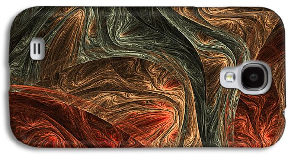 Fractal Art Galaxy S4 Cases - Captivate Galaxy S4 Case by Lourry Legarde