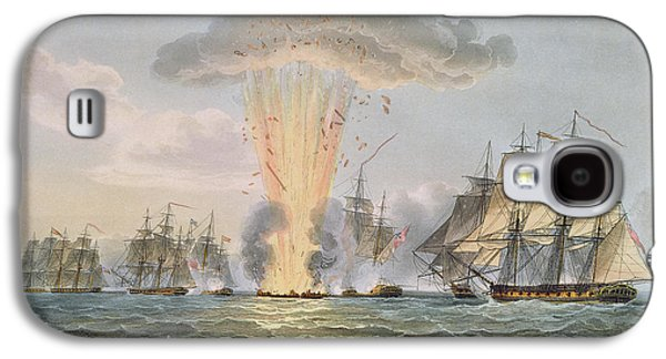 Historic Ship Galaxy S4 Cases - Capture And Destruction Of Four Spanish Galaxy S4 Case by Thomas Whitcombe