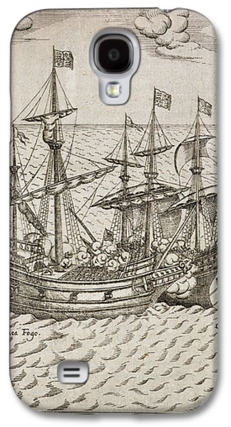 Capture Of The The Spanish Galleon Galaxy S4 Case by British Library