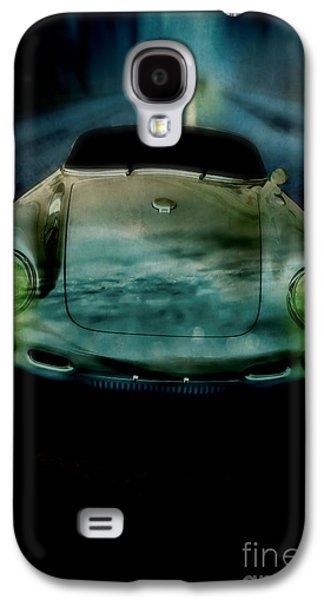 Race Galaxy S4 Cases - Car chase at night Galaxy S4 Case by Edward Fielding