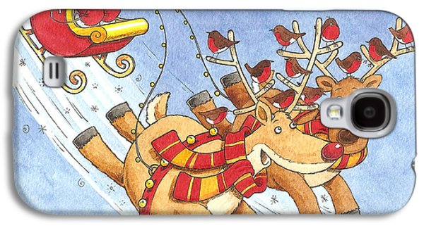 Rudolph Galaxy S4 Cases - Car Sharing Galaxy S4 Case by Peter Adderley