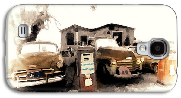 Old Roadway Galaxy S4 Cases - Car Wash On Route 66 Galaxy S4 Case by Ron Regalado