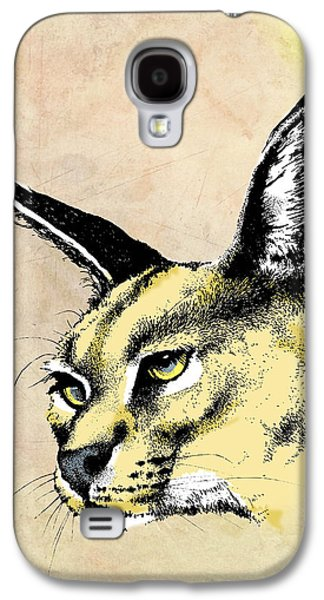 Cheetah Drawings Galaxy S4 Cases - caracal Color Galaxy S4 Case by Anthony Mwangi