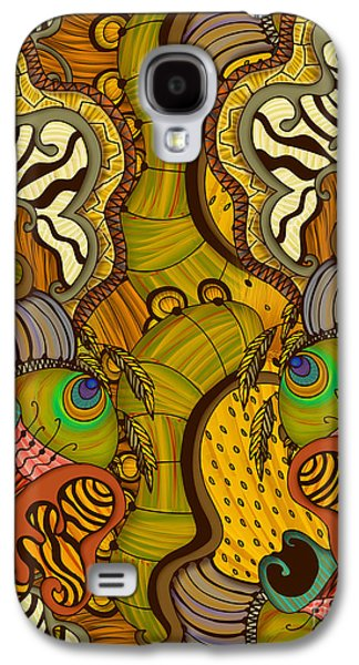 Nature Abstracts Tapestries - Textiles Galaxy S4 Cases - Caravan Pattern Galaxy S4 Case by Janet Antepara