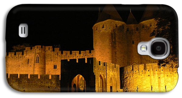 Cathar Country Galaxy S4 Cases - Carcassonne at Night Galaxy S4 Case by France  Art
