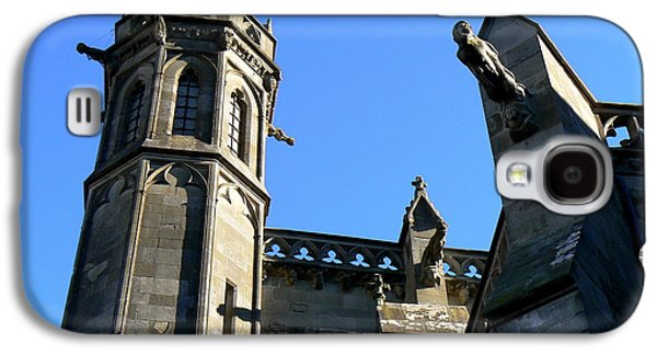 Cathar Country Galaxy S4 Cases - Carcassonnes Cathedral Galaxy S4 Case by France  Art