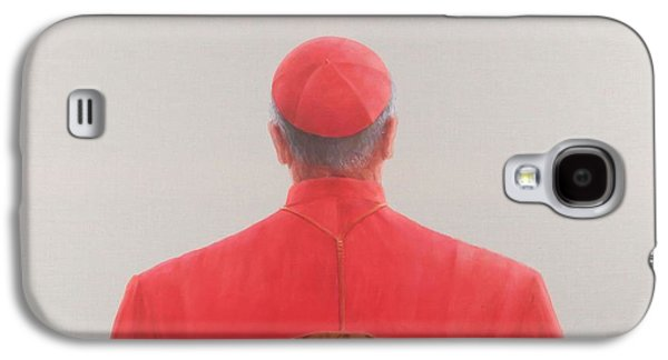 Religious Galaxy S4 Cases - Cardinal, 2012 Acrylic On Canvas Galaxy S4 Case by Lincoln Seligman
