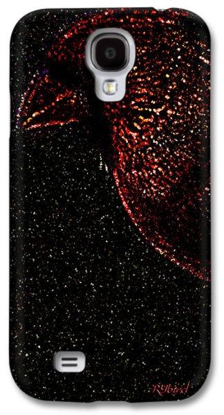Splashy Digital Art Galaxy S4 Cases - Cardinal Coruscate Galaxy S4 Case by Rybird