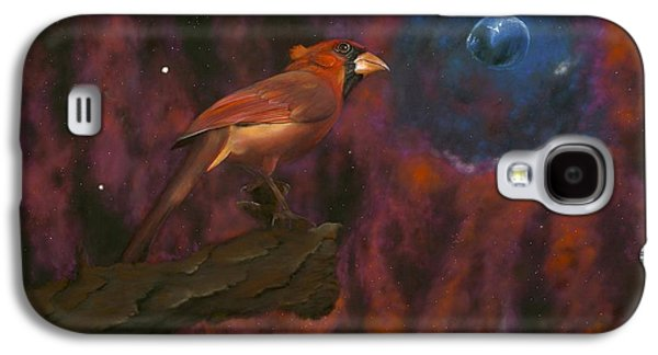 Nature Abstract Pastels Galaxy S4 Cases - Cardinal of Cassiopeia Galaxy S4 Case by Eric Allen