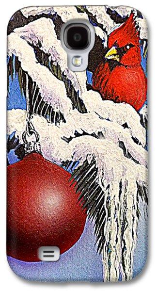 Darren Mixed Media Galaxy S4 Cases - Cardinal One Ball Galaxy S4 Case by Darren Robinson