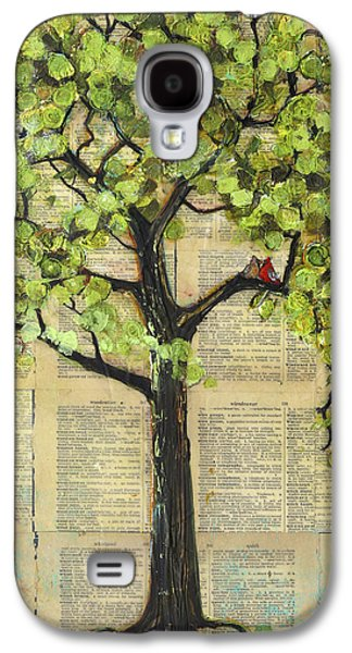Cardinals In A Tree Galaxy S4 Case by Blenda Studio