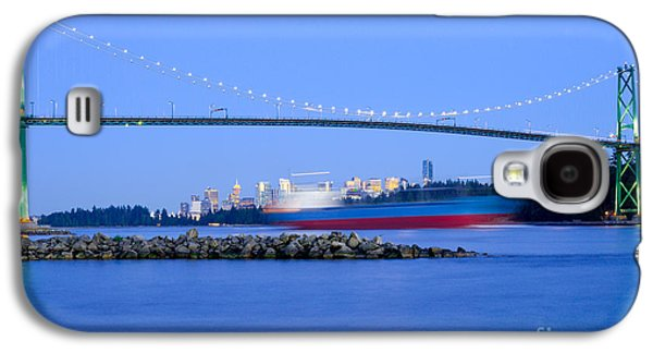 Burrard Inlet Galaxy S4 Cases - Cargo Ship Leaves Port Galaxy S4 Case by Terry Elniski