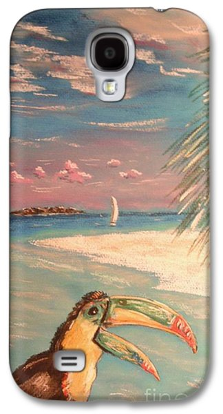 Beach Landscape Pastels Galaxy S4 Cases - Caribbean Afternoon Galaxy S4 Case by The Beach  Dreamer